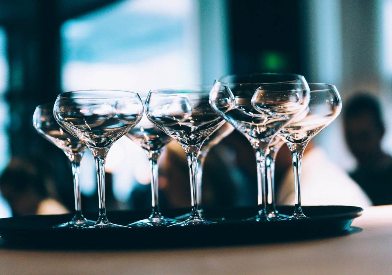 Champagne glas på Nordic Light Hotel