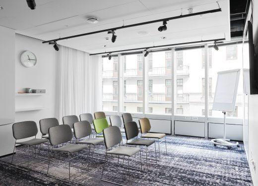Konferenslokal lux i biosittning på Nordic Light Hotel